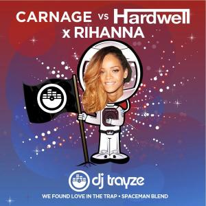 trayze hardwell carnage spaceman we found love album art mp3 calvin harris