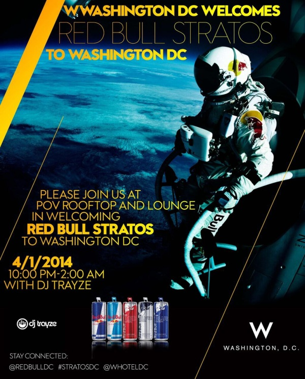 red bull stratos after party dc exhibit trayze dc 2014